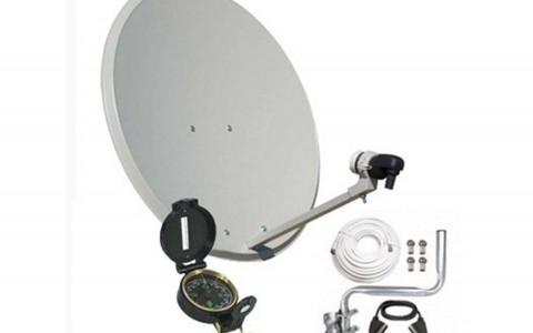 Terrestrial antenna, parabolic, AV signal