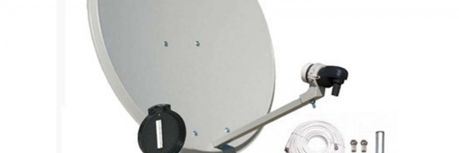 Antenas terrestres, parabólicas, señales AV